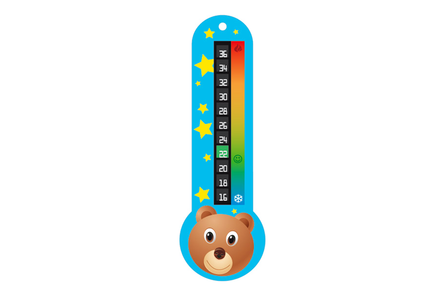 Room Thermometer Thermowall - Mediron