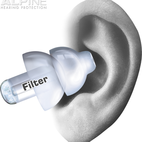 Alpine PartyPlug Transparent ear