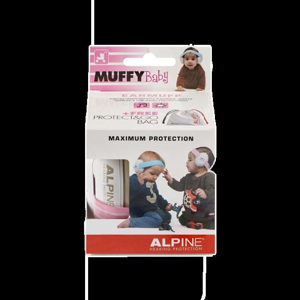 Alpine Muffy Baby kõrvaklapid beebidele roosa-valge