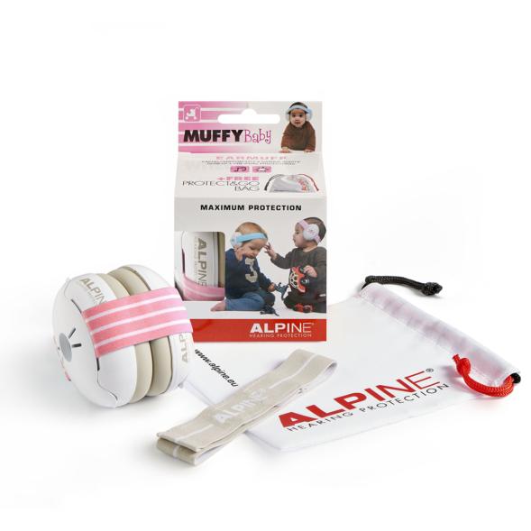 Alpine Muffy Baby kõrvaklapid beebidele roosa-valge_01