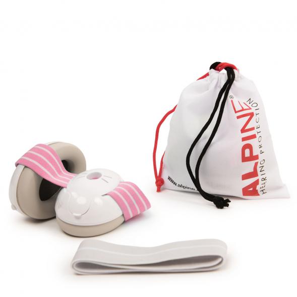 Alpine Muffy Baby kõrvaklapid beebidele roosa-valge_02