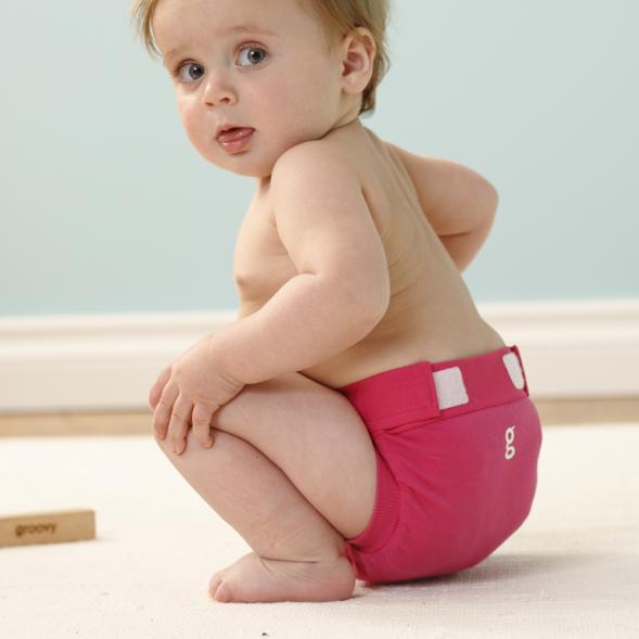 gDiapers mähkmepüksid - Goddess Pink gPants-laps mähkmetega