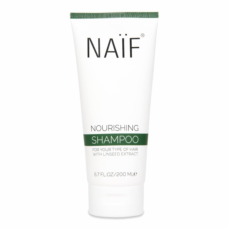 NAÏF toitev šampoon linaseemne ekstraktiga 200ML 1500x1500