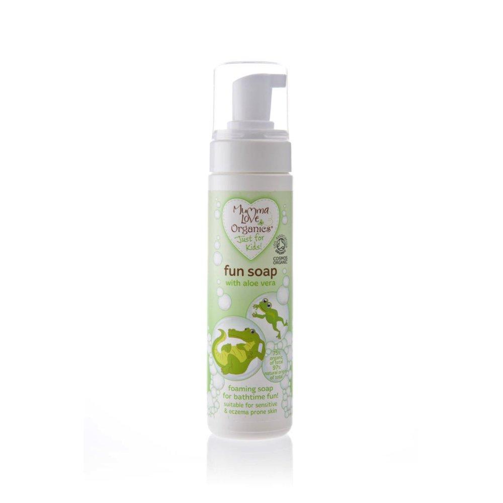 Mumma Love Organics Aloe Veraga vahutav vahva pesuseep lastele
