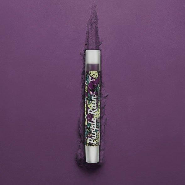 Good Boom niisutav vegan huulevärv Purple Rain disain